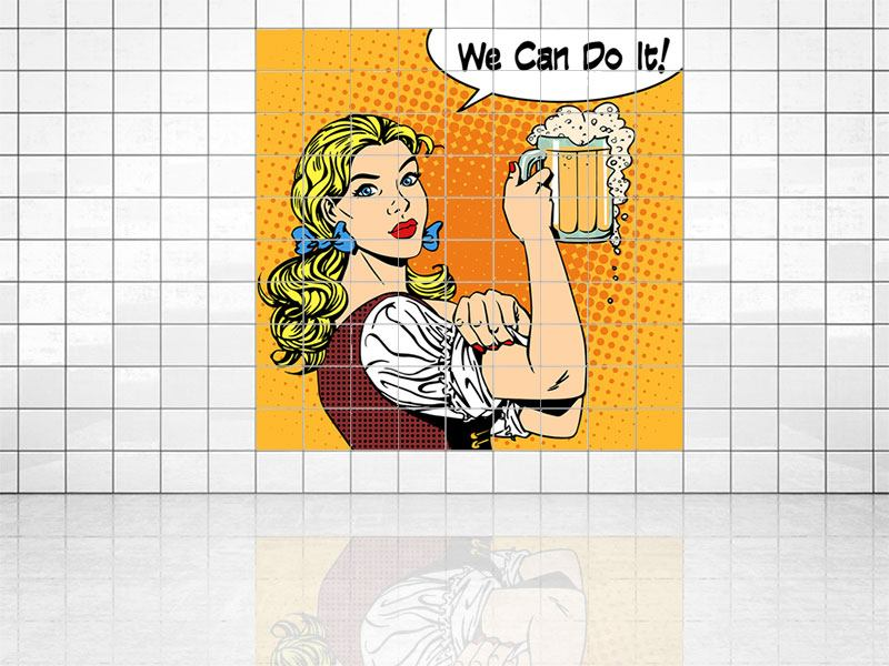 Tile Print We Can Do It