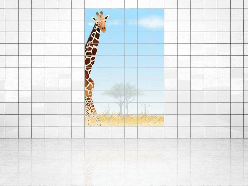 Tile Print Giraffe Friend