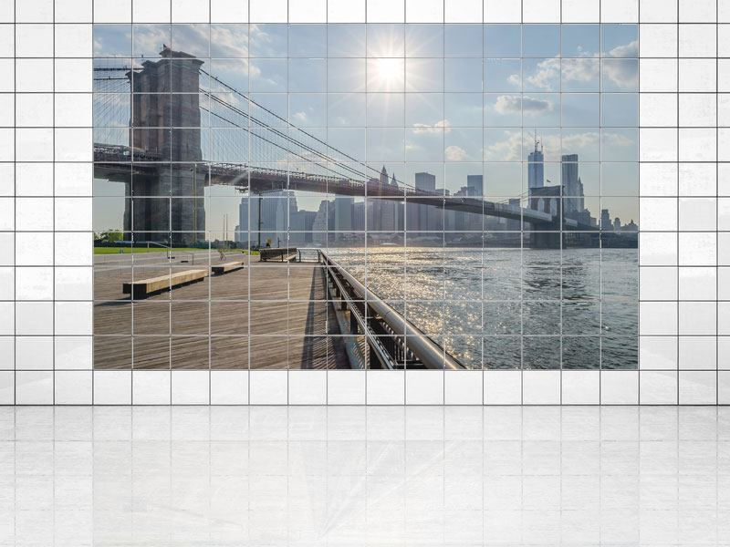 Impression pour Carrelage Le pont de Brooklyn