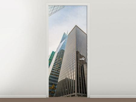 Door Mural Skyscrapers