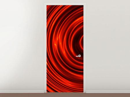 Door Mural Abstract Red Whirl