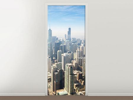 Door Mural Skyscraper Chicago