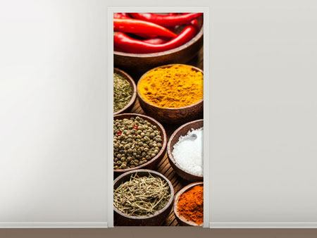 Door Mural Hot Spices