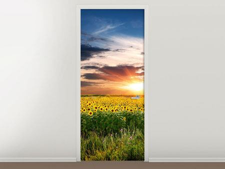 Door Mural A Field Of Sunflowers