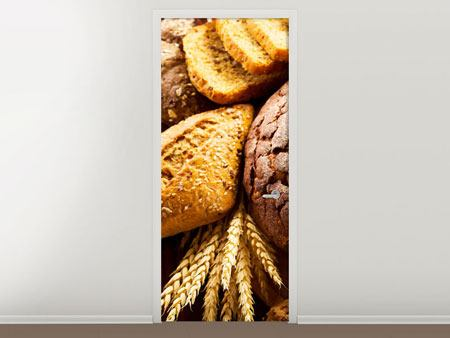 Door Mural Bread Assortment