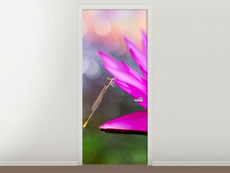 Door Mural Visit The Waterlily