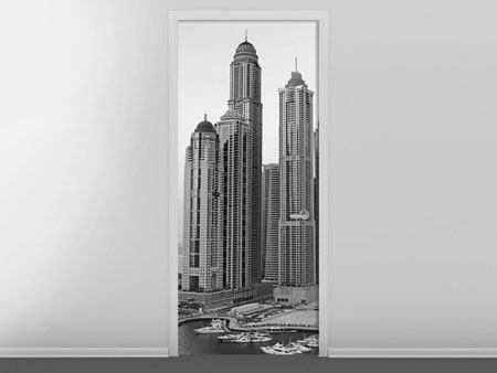 Door Mural Majestic Skyscrapers In Dubai