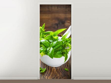 Door Mural Fresh Basil