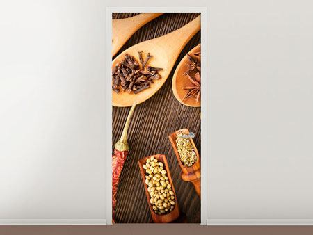 Door Mural Oriental Spices