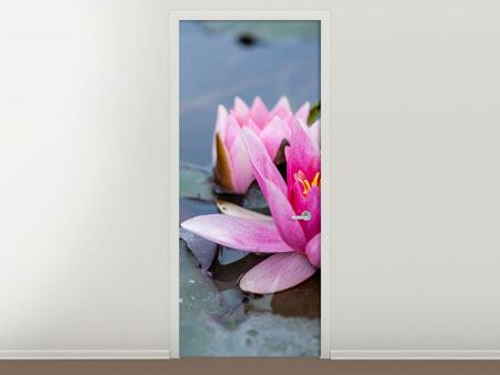 Door Mural The Waterlilies Duo