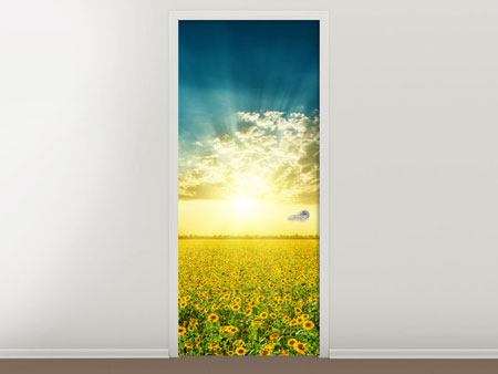 Door Mural Sunflowers In The Evening Sun
