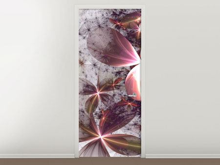 Door Mural Abstract Floral