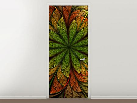 Door Mural Abstract Floral Pattern