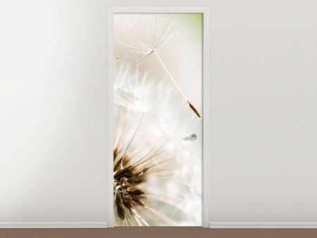 Door Mural Blowball Dandelion