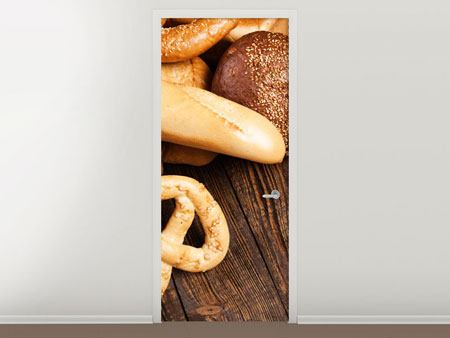 Door Mural Bread And Pretzel