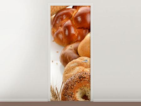 Door Mural Breakfast Sandwiches