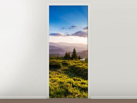 Door Mural Peaceful Landscape