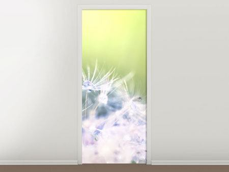 Door Mural Dandelion XL In Morning Dew