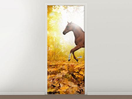 Door Mural Whole Blood In Autumn Forest