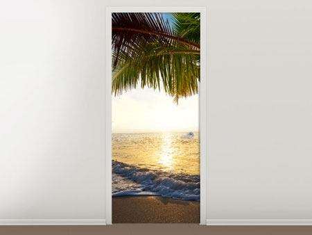 Door Mural Beach View