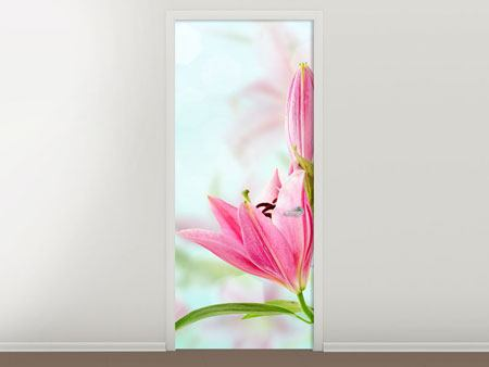 Door Mural Romantic Lilies