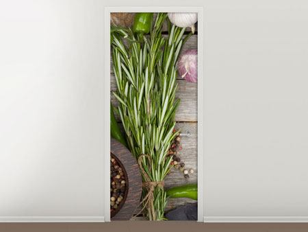 Door Mural Spices Italiano