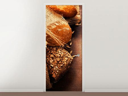 Door Mural Fresh Breads