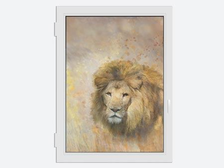 Window Print Lion King