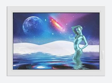 Window Print Moon Goddess