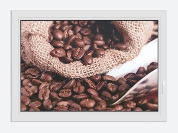 Window Print XXL Coffee Beans