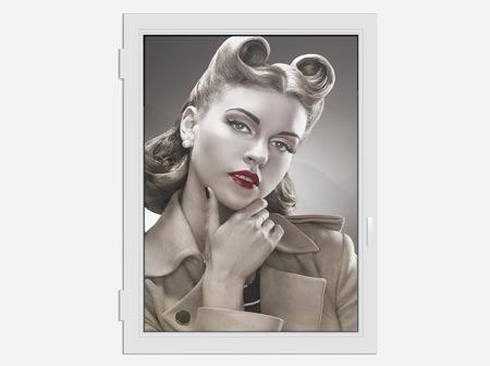 Window Print Pin Up Retro Style