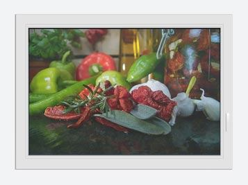 Window Print Mediterranean Vegetables