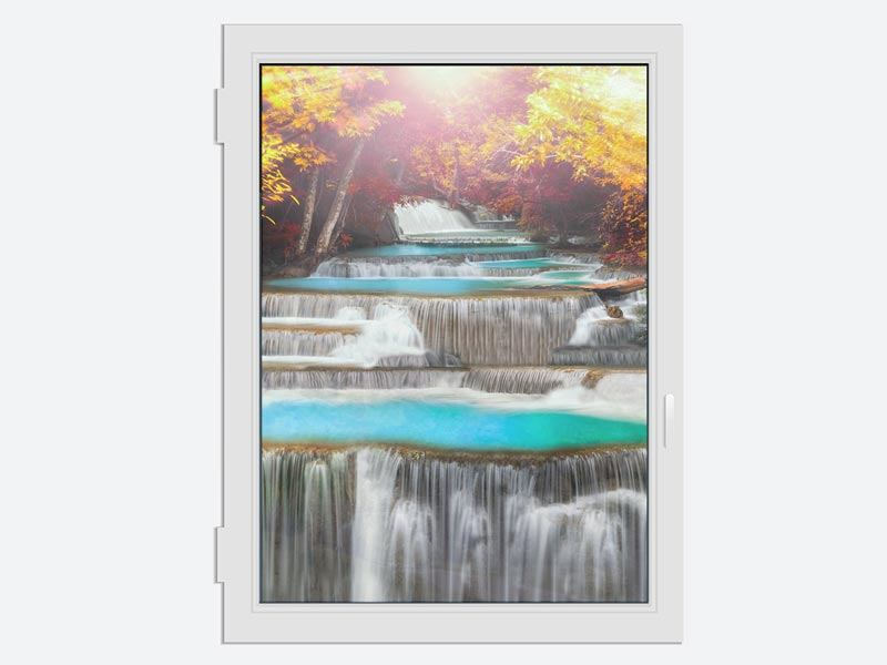 Window Print Huay Mae Khamin Waterfall