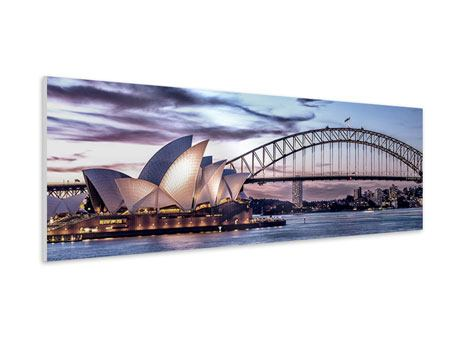 Panoramic Forex Print Skyline Sydney Opera House