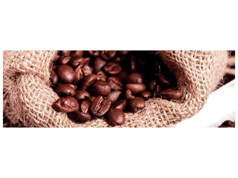 Panoramic Forex Print XXL Coffee Beans