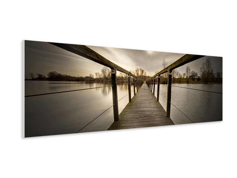 Panoramic Forex Print The Wooden Bridge