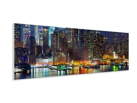 Panoramic Forex Print Skyline New York Midtown At Night