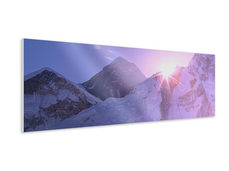 Panoramic Forex Print Sunrise At Mount Everest