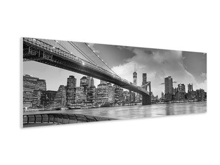 Panoramic Forex Print Skyline Black And White Photography Brooklyn Bridge NY