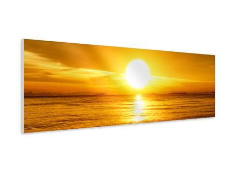 Panoramic Forex Print Fantastic Sunset