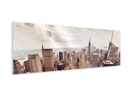 Panoramic Forex Print Skyline Over The Roofs Of Manhattan