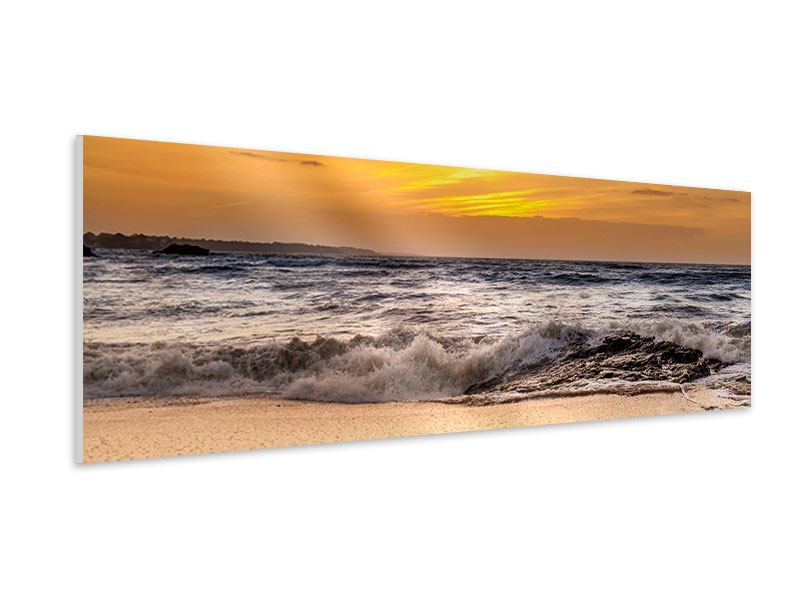 Panoramic Forex Print Lake With Sunset