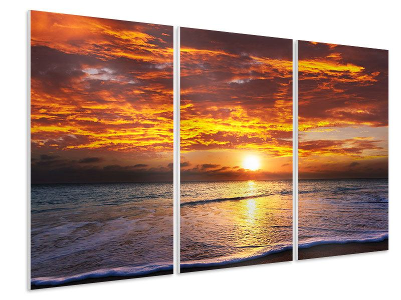 3 Piece Forex Print Relaxation By The Sea