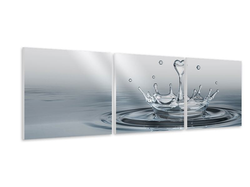 Panoramic 3 Piece Forex Print Water Figure