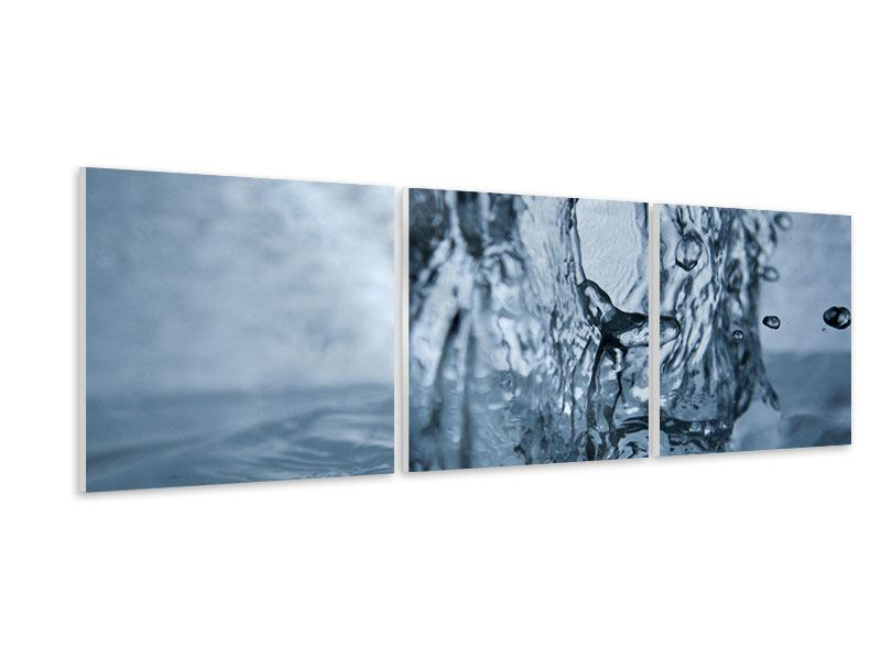 Panoramic 3 Piece Forex Print Water Dynamics
