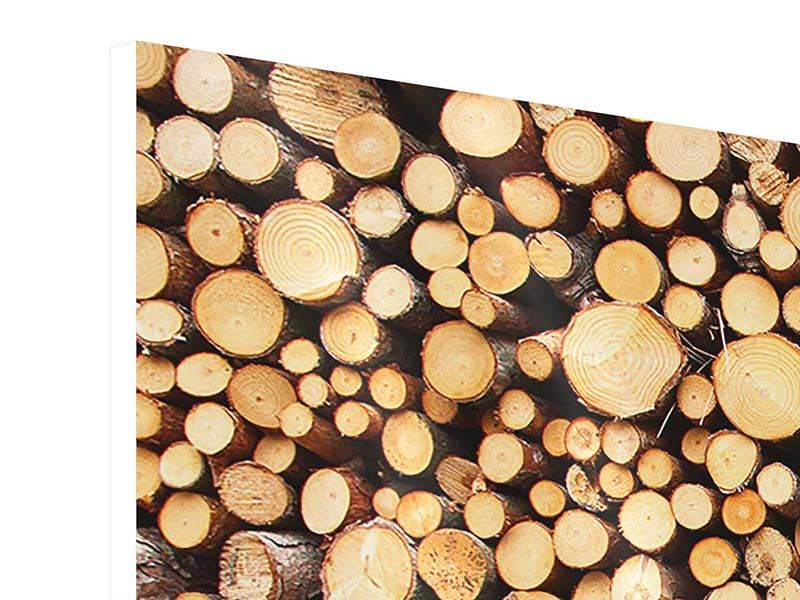 Panoramic 3 Piece Forex Print Logs