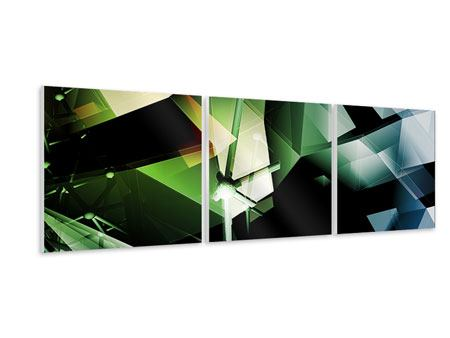 Panoramic 3 Piece Forex Print 3D Polygon