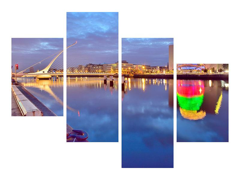 Modern 4 Piece Forex Print Samuel Beckett Bridge