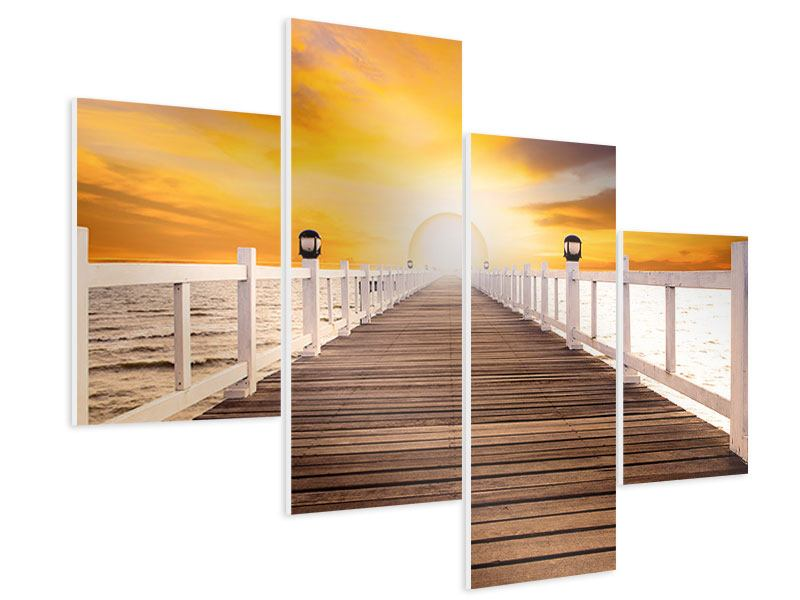 Modern 4 Piece Forex Print The Bridge On Happiness