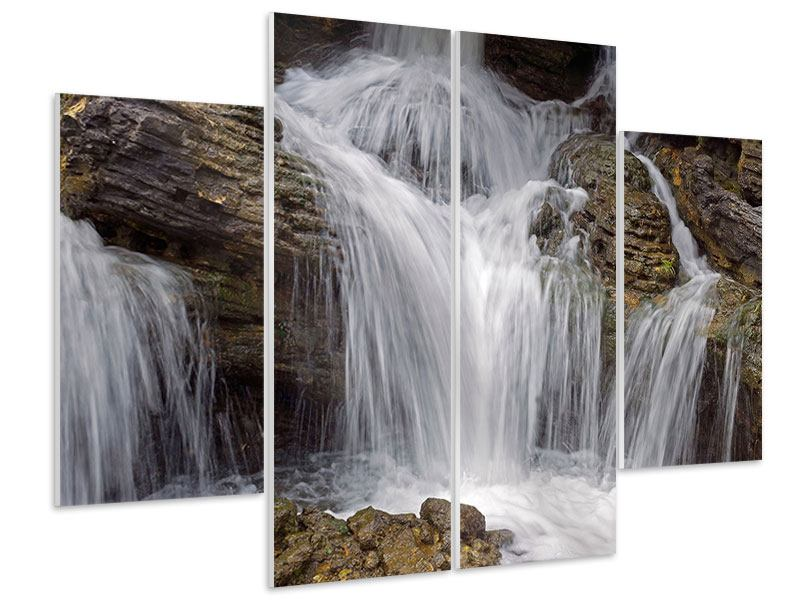 4 Piece Forex Print Waterfall XXL